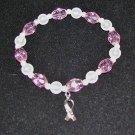 Hope! - Bracelet for Breast Cancer Awareness – Crystal Stretch