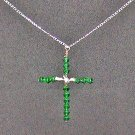 Kelly Green Cross Pendant
