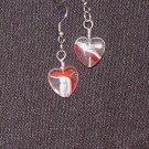 Swirl Heart Drop Earrings