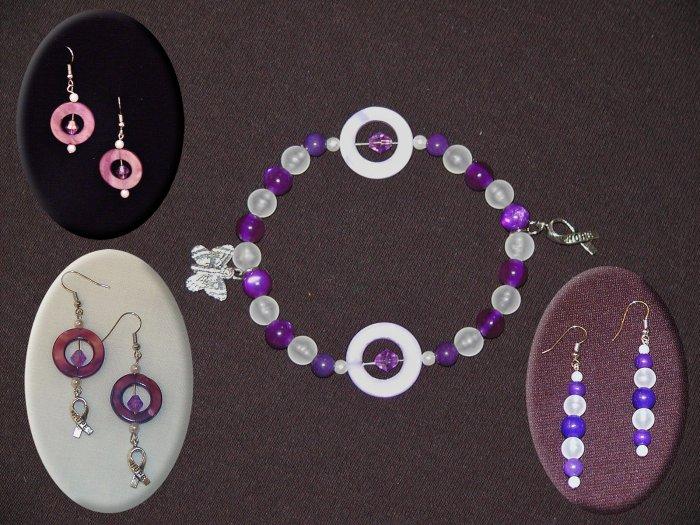 Circles of Hope Full Set: Bracelet (Stretch) and Earrings