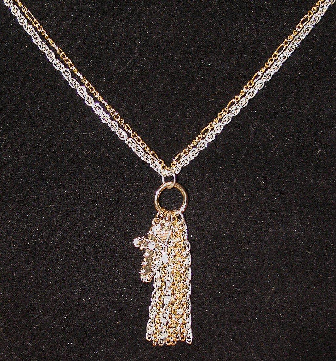 Precious Metals Necklace: Keys to the Cross