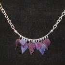 Purple Leaves: Necklace