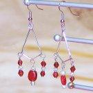Scarlet & Sterling Silver Earrings