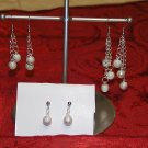 Silver Glitter - Three Pair Earring Set