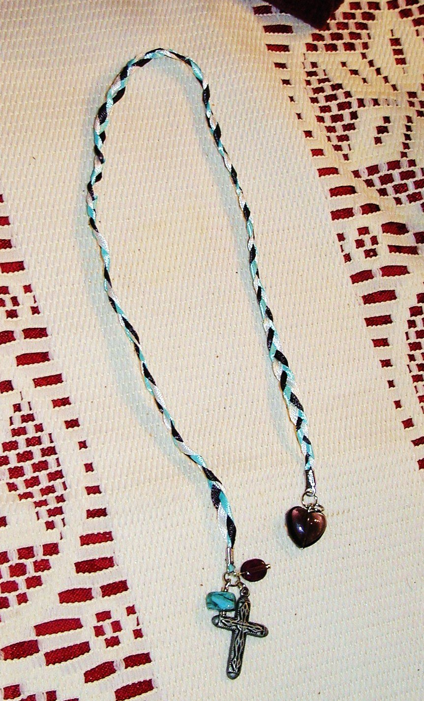 Ribbon Bookmark - Antique Cross