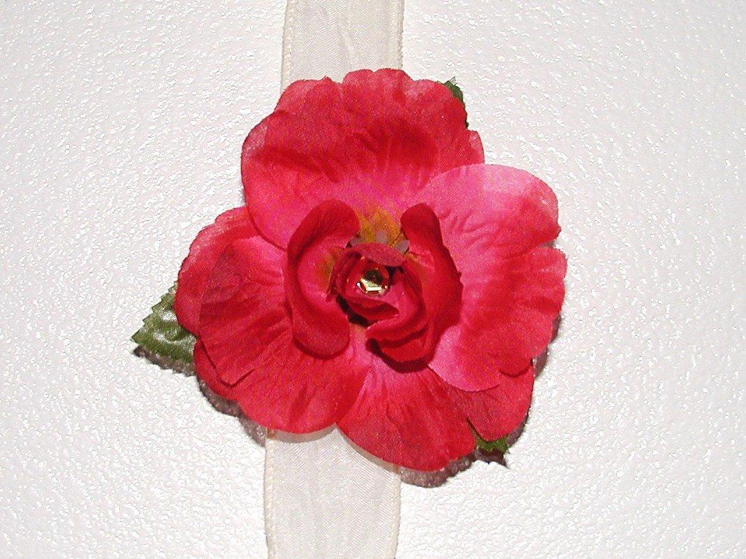 Red Hannah Rose Hair Clip
