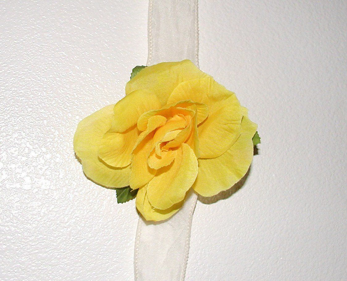 Yellow Hannah Rose Hair Clip