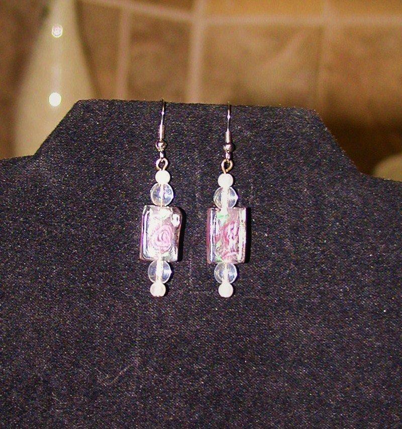 Crystal Roses Earrings