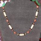 Carved Bone Necklace - Janet