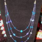 3 Strand Blue Necklace