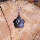 Black Buttercup - Long Necklace