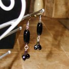 Black Buttercup -Earrings, Long
