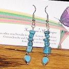 Turquoise Drops Long Dangle Earrings