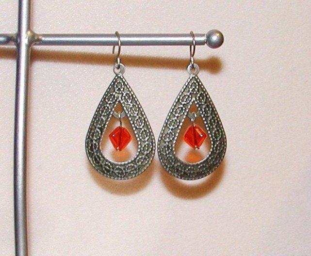 Scarlet Drop Earrings