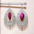 Purple Filigree Earrings