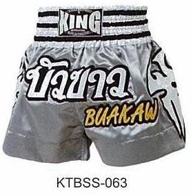 Muay thai Boxing Shorts (100% Satin) Bua-Kaw K-1 Champion!! Top Sales!! KTBSS-063