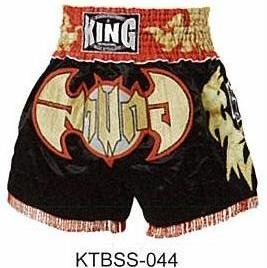 Muay Thai Boxing shorts  (Satin)  KTBSS-044  RED BAT!!!
