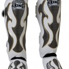 SHIN PADS FANCY BY TOP KING PROFESSIONAL (TKSGEM-01WH)