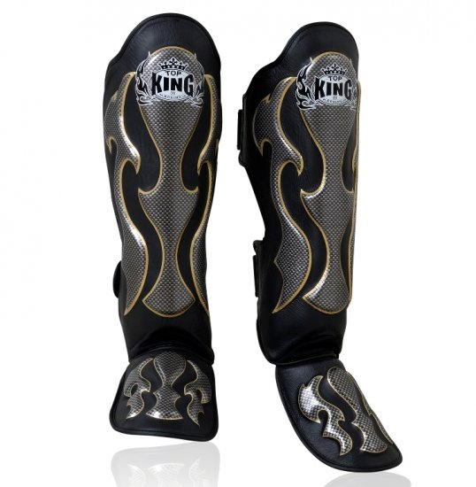 SHIN PADS FANCY BY TOP KING PROFESSIONAL (TKSGEM-01BK)