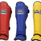 Shin pads (KING) 100% genuine leather KSGPL White