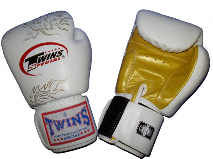 TWINS FANCY GLOVES (FBGV-6) White/Gold