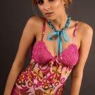 """funky print"" pink sleepwear set, s,m,l"