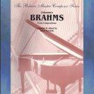 Johannes Brahms Piano Compositions Solo Piano POP