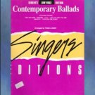 Contemporary Ballads Vocal Solos with Accompaniment Low Voice