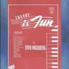 Theory Is Fun Book One David Hirschberg