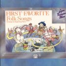 First Favorite Folk Songs Beginner Piano Solos Olson