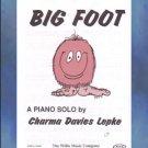Big Foot Level 2 Piano Solo Charma Davies Lepke