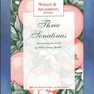 Three Sonatinas Piano Duets Weekley and Arganbright