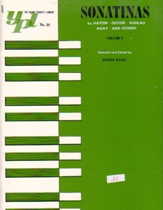 The Young Pianist's Library Sonatinas Volume C Denes Agay