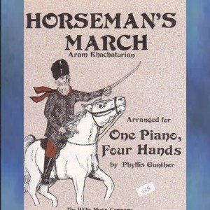 Horseman's March 1 Piano/4 Hands Khachaturian