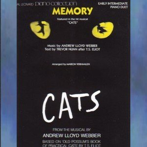 Memory From Musical Cats Intermediate Piano Duet