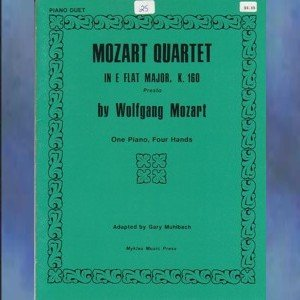Mozart Quartet In E-flat Major, K. 160 1 Piano/4 Hands