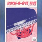 Rock-A-Bye Five 1 Piano/6 Hands Marian Hall NFMC Selection