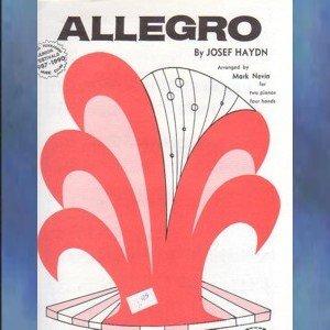 Allegro 2 Pianos/4 Hands Josef Haydn/Mark Nevin