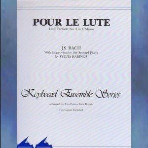 Pour Le Lute Little Prelude No. 3 In C Minor Bach Rabinof