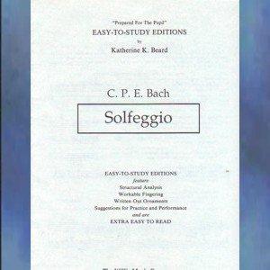 Solfeggio C.P.E. Bach Solo Piano Katherine Beard