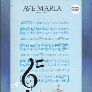 Ave Maria Vocal Solo Bach Gounod Version