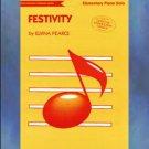 Festivity Elementary Piano Solo Elvina Pearce