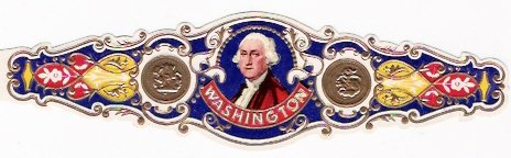 1 BIG Cigar band Washington s1 n2