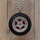 Hot Pink : Wheel Necklace
