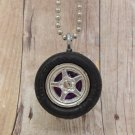 Purple : Wheel Necklace