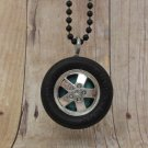 Teal : Wheel Necklace