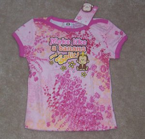The Toonworks Make Like A Banana Shirt Girl Sz 6 6X NWT