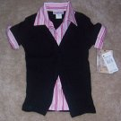 Cupids Cup Black Dress Shirt Sweet Size 7 8 NWT