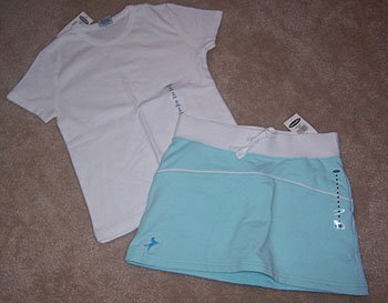 Old Navy Mint Skirt Short White Tee Shirt 2pc Outfit Girls sz 8 NWT