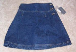 Cooper Key Jean Skirt School Length Simple Girls Sz 12 NWT